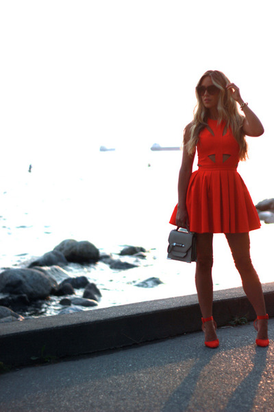 red cut outs Lovers and Friends dress