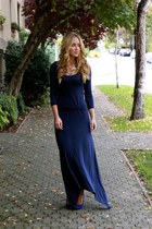 navy maxi StyleMint dress