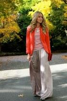 light pink maxi Zara skirt