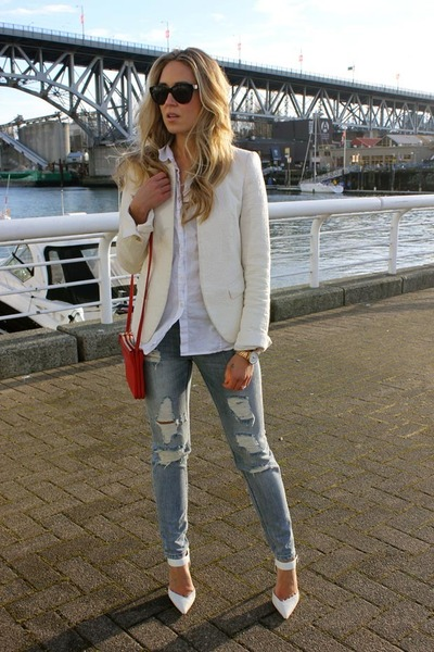 periwinkle distressed sass & bide jeans