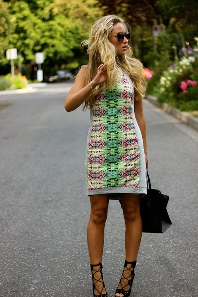 hot pink cotton HAUTE AND REBELLIOUS dress