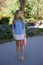 Periwinkle-chambray-american-eagle-shirt