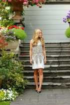silver sequin foley  corinna dress