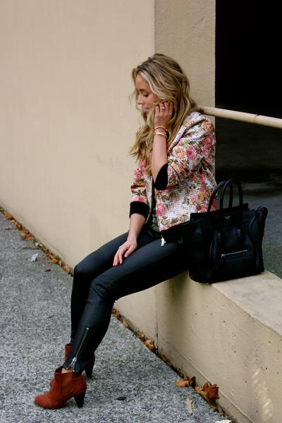 black leather Rachel Zoe pants
