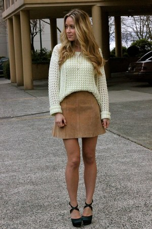chartreuse knit American Eagle sweater