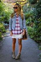 maroon plaid American Eagle shirt