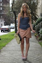 peach strapless nectar clothing dress - beige suede Shoe Mint heels
