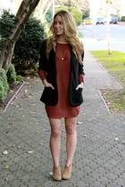 brick red sweater BB Dakota dress