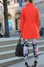 Blue-floral-asos-pants-ruby-red-pea-old-navy-jacket