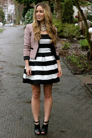 black striped beginning boutique dress