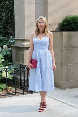 H&M dress - sam edelman sandals
