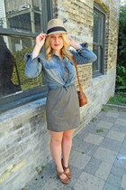 chambray pitaya shirt - cut out pitaya dress - fedora Forever 21 hat