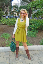 Steve Madden boots - Langford Market dress - Marc by Marc Jacobs bag