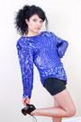 Blue-wwwcarboncopyclothingcom-blouse-black-steve-madden-shoes