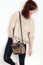 beige CarbonCopyClothing shirt - black Forever 21 leggings - brown CarbonCopyClo
