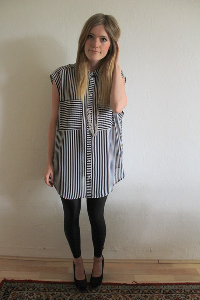 Monki blouse - American Apparel leggings