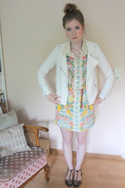 H&M blazer - asos dress - Zara sandals