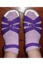 Purple-leather-saltwater-sandals