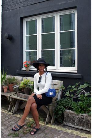 Topshop sandals - asos hat - Michael Kors bag - asos sunglasses - Topshop skirt