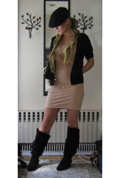 American Apparel dress - Michael Kors jacket - vintage boots - vintage hat - Fro