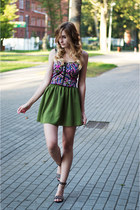 green chicnova skirt - hot pink Choies top