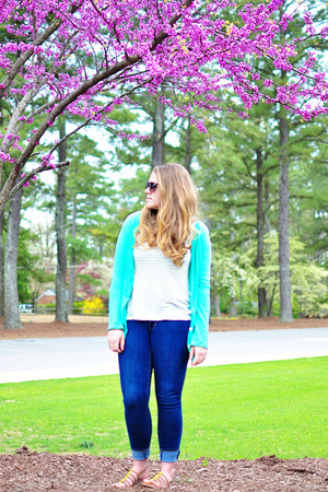 skinny jeans Old Navy jeans - mint American Eagle cardigan - Old Navy sandals