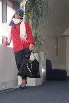 Express pants - vintage blazer - miscusi  etsy hat - Christian Louboutin shoes -