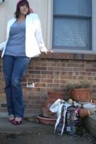 Old Navy jeans - everylittlecountsnet t-shirt - vintage blazer - Etsy hat - Etsy
