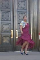 Nordstrom dress - Anthropologie sweater - Shopbop shoes - Ebay necklace - vintag