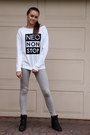 Heather-gray-adidas-leggings-white-adidas-sweatshirt-black-adidas-wedges