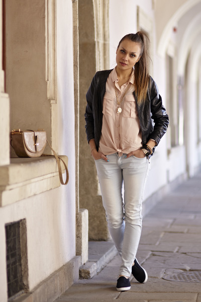 Mohito blouse - New Yorker shoes - Primark jacket - Top Secret pants