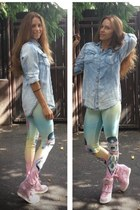 freak of nature leggings - H&M shirt - ASH wedges