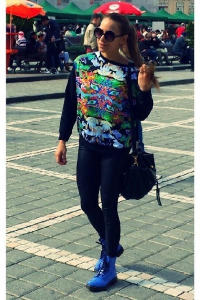 Dr Martens boots - BSB leggings - Marc marc jacobs bag