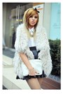White-zara-shirt-ivory-golden-detail-mango-purse-cream-fur-zara-vest