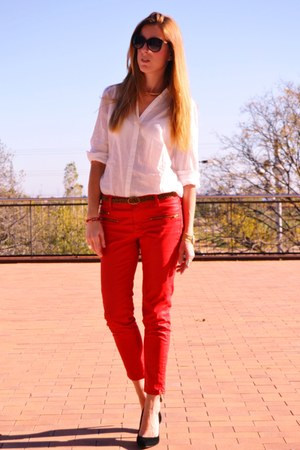 Mango heels - H&M blouse - Zara pants