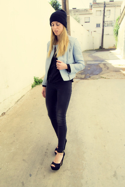 Zara jacket - GINA TRICOT jeans - Steve Madden wedges