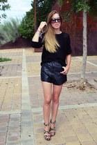 vintage shorts - H&M jumper - Mango heels