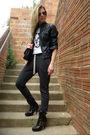 Gray-topshop-pants-black-jeffrey-campbell-boots-black-chanel-lambskin-255-pu