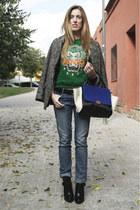 Kenzo jumper - Zara boots - Zara jeans - VJ Style bag