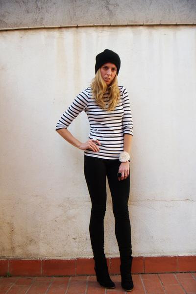 black young fabulous and broke leggings - black Zara shoes - Zara - black Topsho