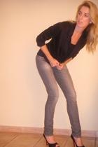 H&M jacket - H&M jeans - LnA shirt - Christian Louboutin shoes