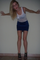 Pleasure Doing Business skirt - Kain Label t-shirt - Jimmy Choo shoes - Elle Mac