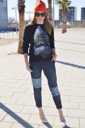 givency jumper - Zara jeans - Mango wedges