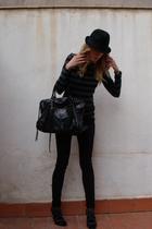 H&M hat - Zara shirt - asos jeans - balenciaga
