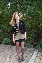 H&M shirt - black H&M jacket - black Zara shoes