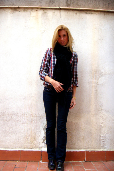 Zara shirt - Zara scarf - asos shoes - J Brand jeans