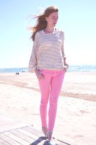 Zara pants - BLANCO sweater - BLANCO flats