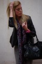 christian dior jacket - casio accessories - Zara scarf - JBrand jeans - LnA t-sh