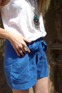 Blue-h-m-the-garden-collection-shorts-brown-zara-clogs-shoes