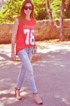 Zara jeans - Zara t-shirt - Zara heels